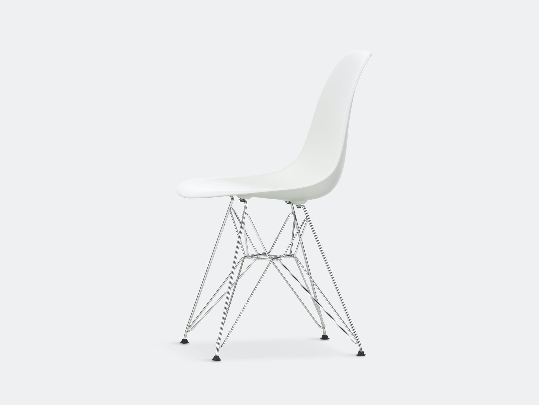 Vitra Eames Plastic Side Chair DSR white chrome legs