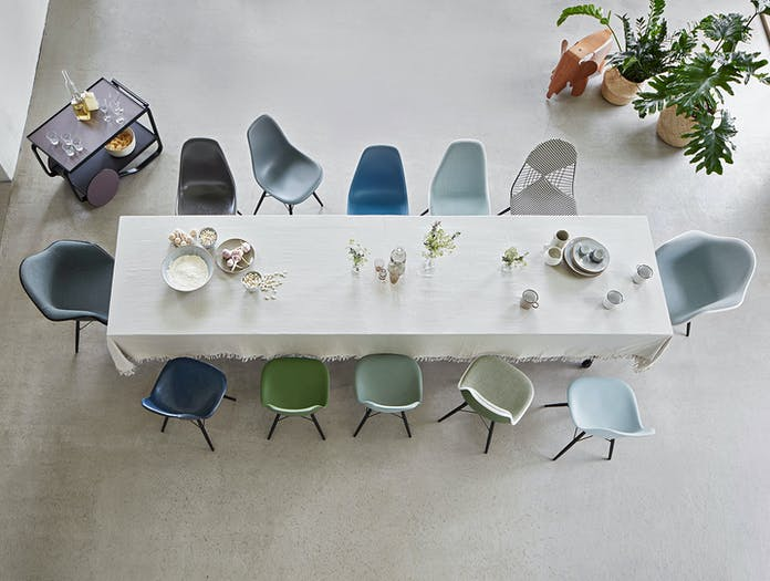 Vitra Eames Plastic Side Chair DSW Eames Plastic Armchair Eames Elephant Plywood Eames Wire Chair DKW