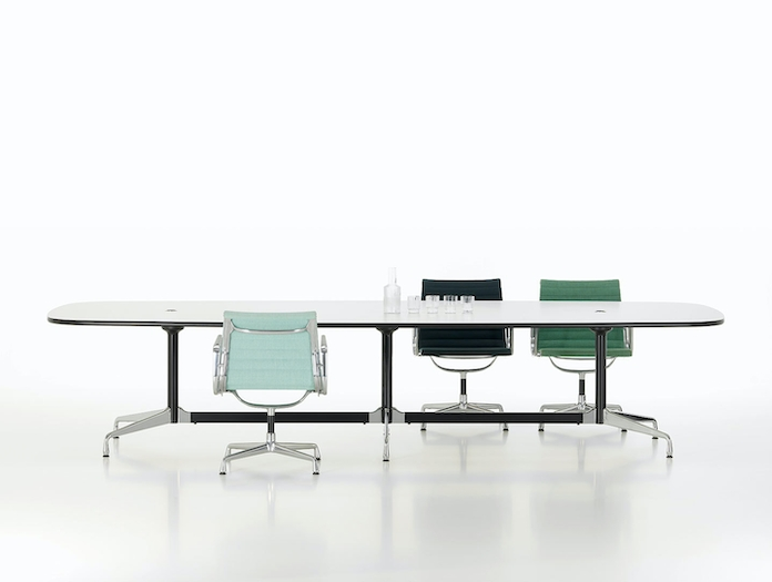 Vitra Eames Segmented Conference Table L 360 white laminate
