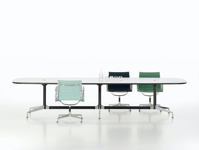 Vitra Eames Segmented Conference Table L 360 white laminate