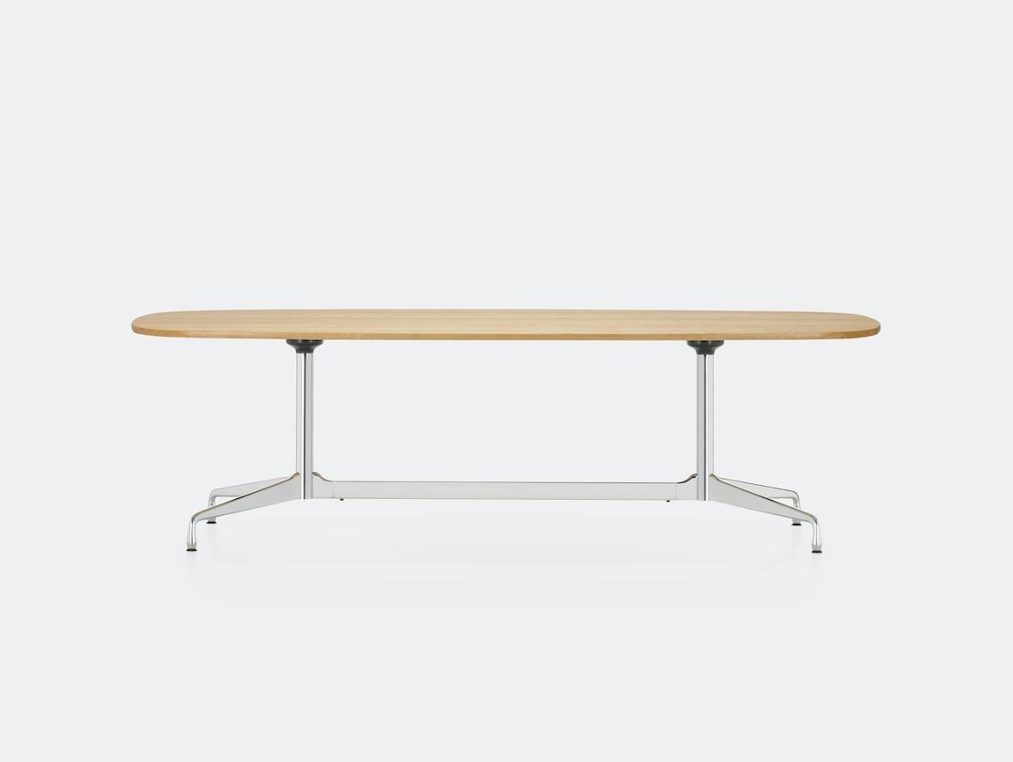 Vitra Eames Segmented Table L 280 light oak chrome