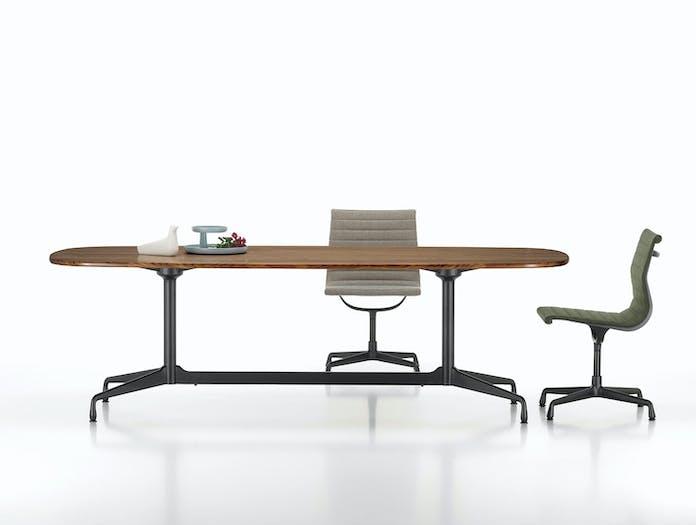 Vitra Eames Segmented Table L 280 walnut basic dark base