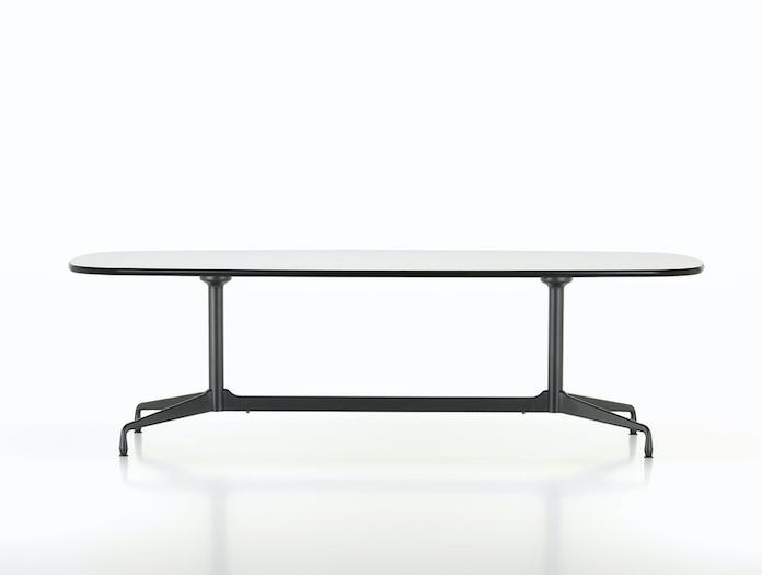 Vitra Eames Segmented Table L 280 white laminate basic dark base