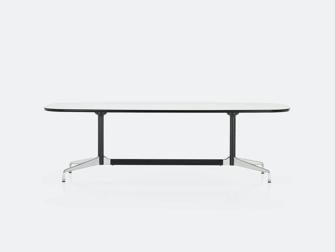 Vitra Eames Segmented Table L 280 white laminate chr b dk