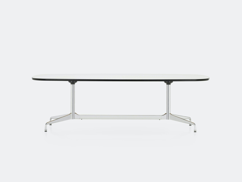 Vitra Eames Segmented Table L 280 white laminate chrome