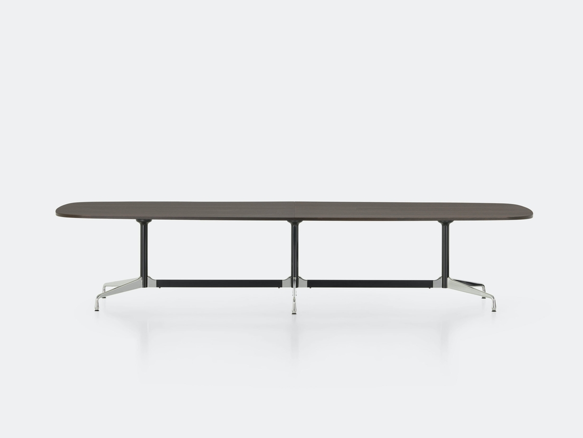 Vitra Eames Segmented Table L 360 dark oak