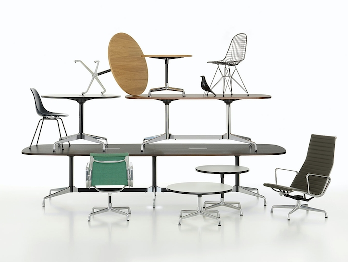 Vitra Eames Segmented Tables Chairs