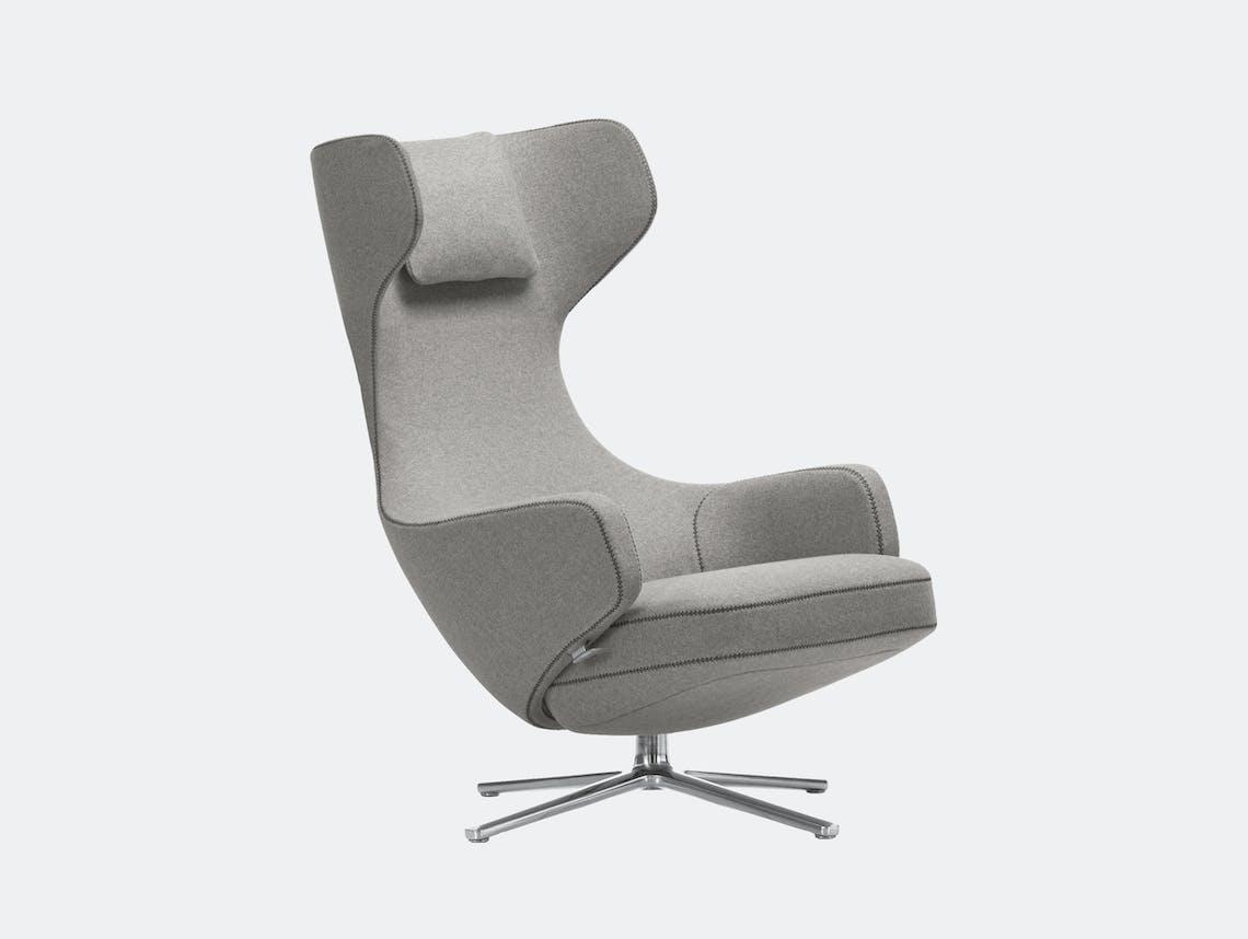 Vitra Grand Repos Lounge Chair Cosy Pebble Grey Antonio Citterio