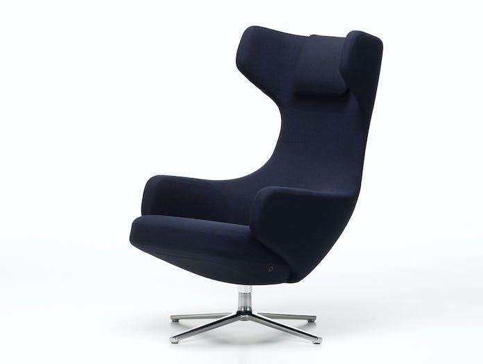 Vitra Grand Repos Lounge Chair dark blue Antonio Citterio