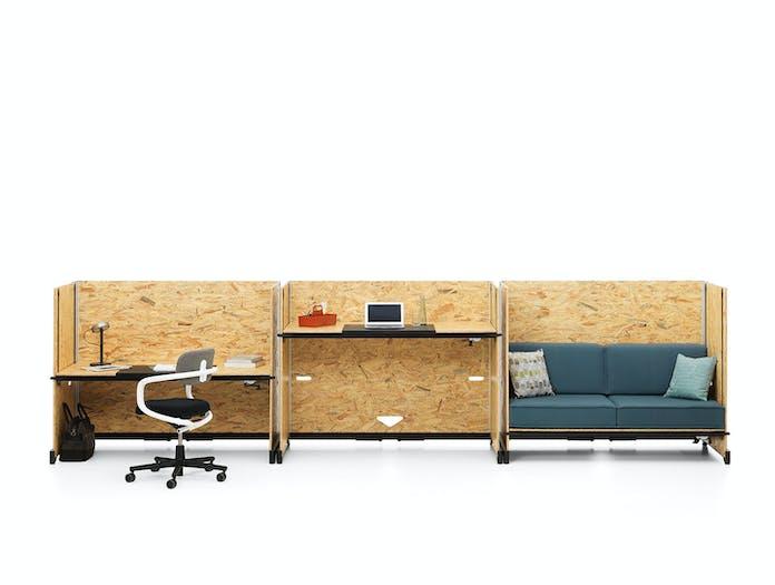 Vitra Hack Table System desk high desk sofa Konstantin Grcic