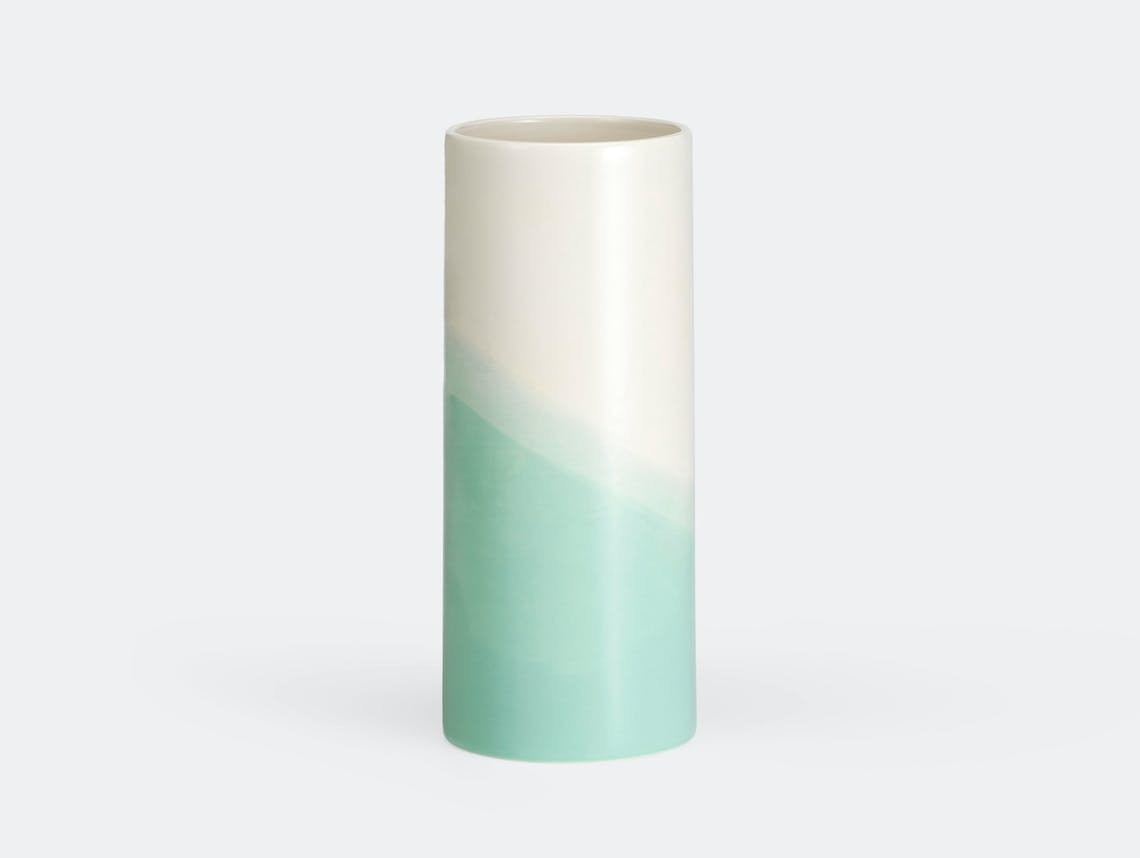 Vitra Herringbone Plain Vase Mint Raw Edges