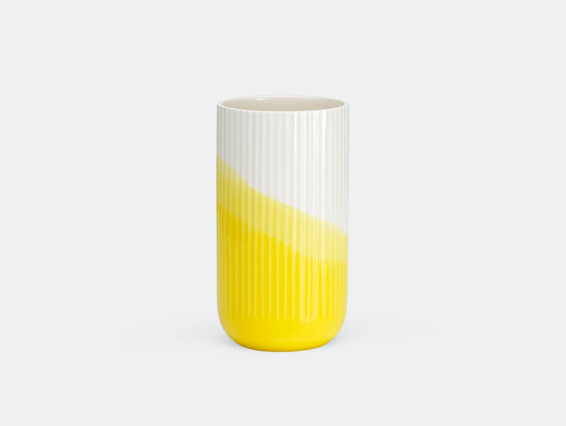 Vitra Herringbone Ribbed Vase Yellow Raw Edges