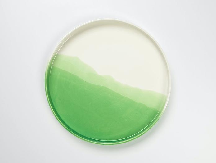 Vitra Herringbone Tray Green 2 Raw Edges