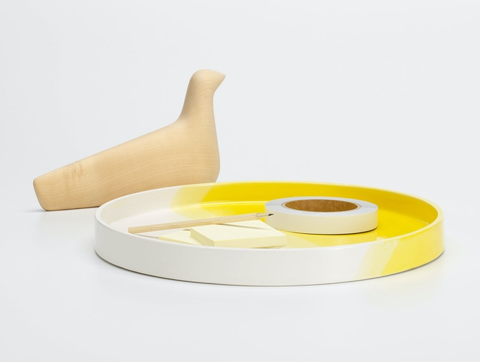 Vitra Herringbone Tray Yellow 3 Raw Edges