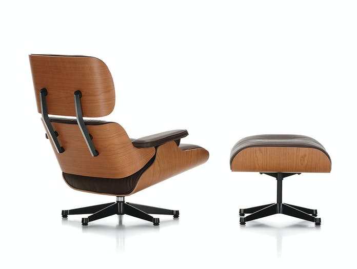 Vitra Lounge Chair Ottoman cherry back