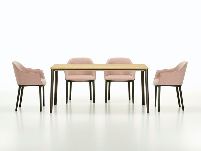 Vitra Plate Dining Table Softshell Chairs
