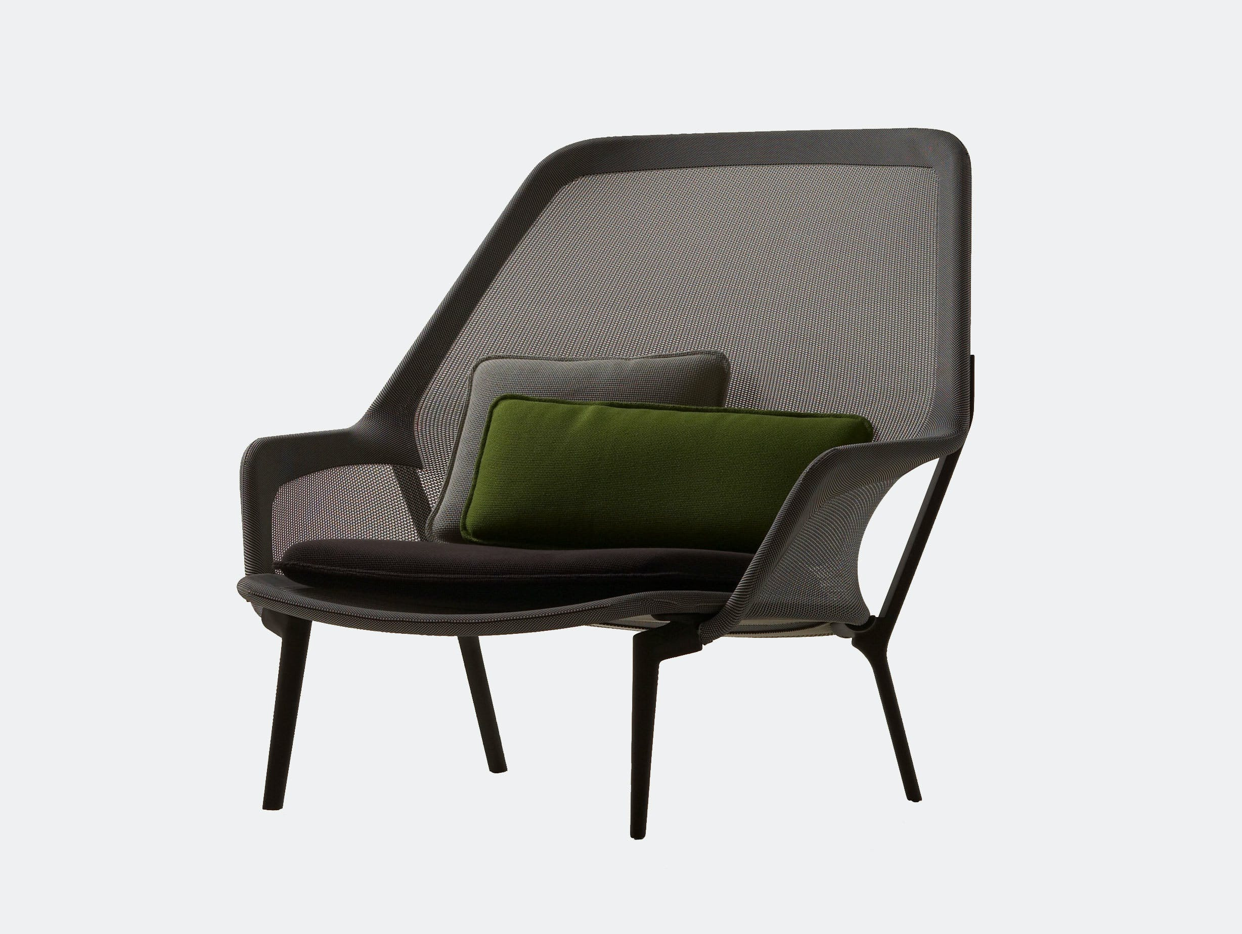 Vitra Slow Lounge Chair black chocolate base Bouroullec
