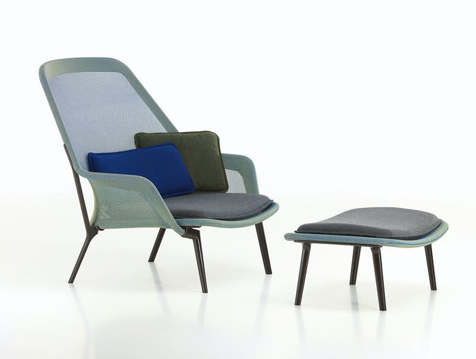 Vitra Slow Lounge Chair blue green Bouroullec