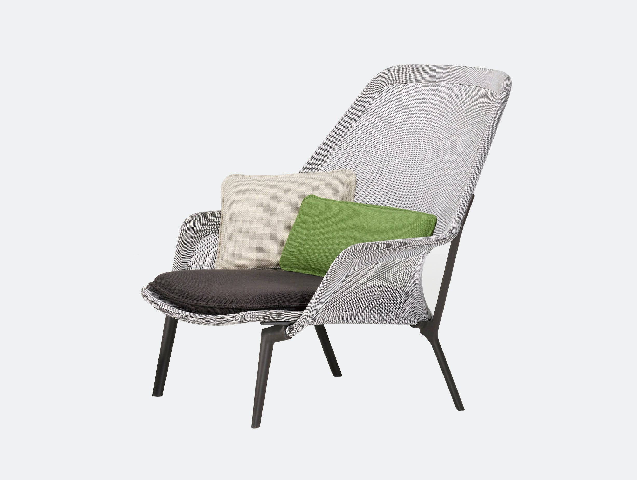Vitra Slow Lounge Chair brown cream chocolate base Bouroullec