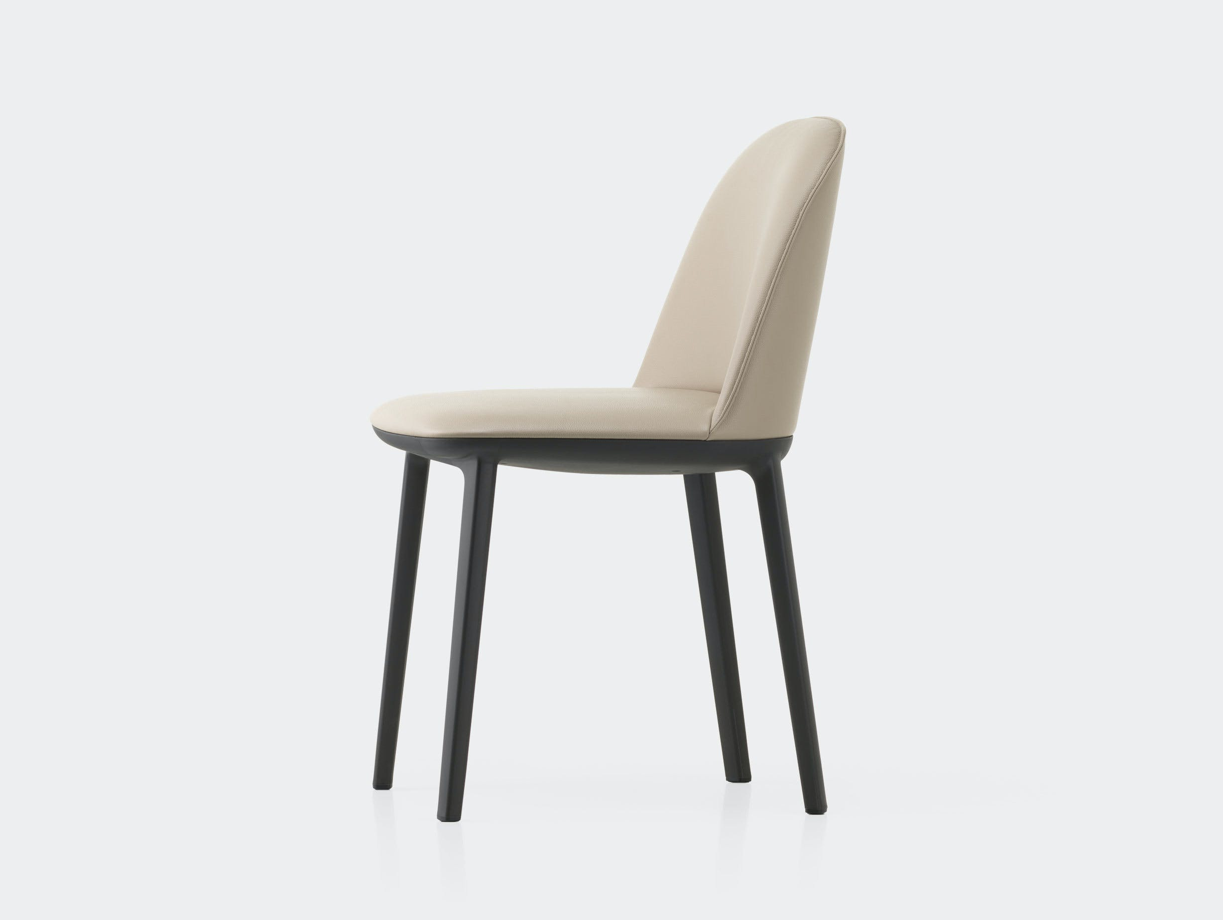 Vitra Softshell Side Chair Clay Leather Bouroullec