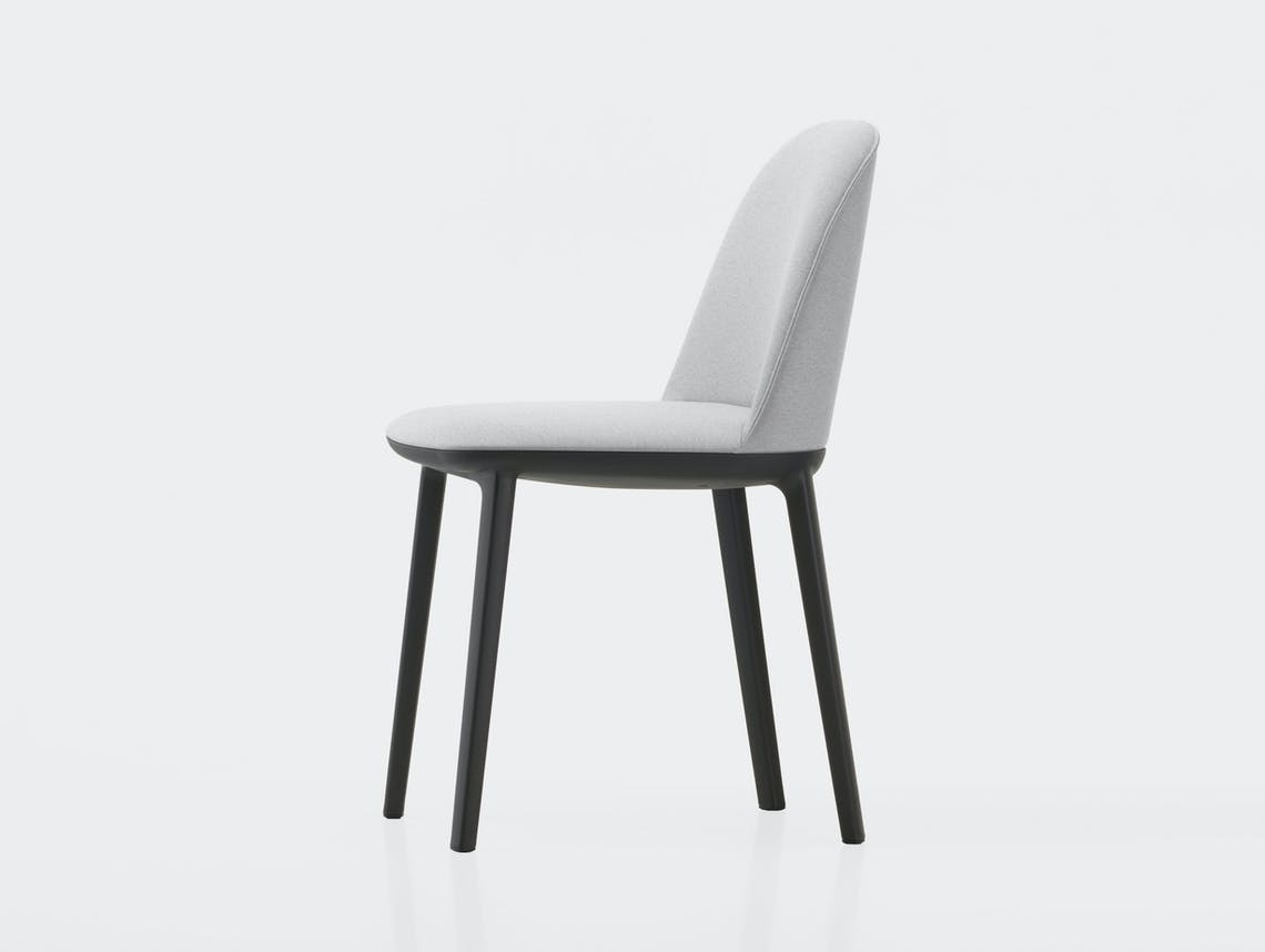 Vitra Softshell Side Chair Laser Ice Blue Ivory Bouroullec