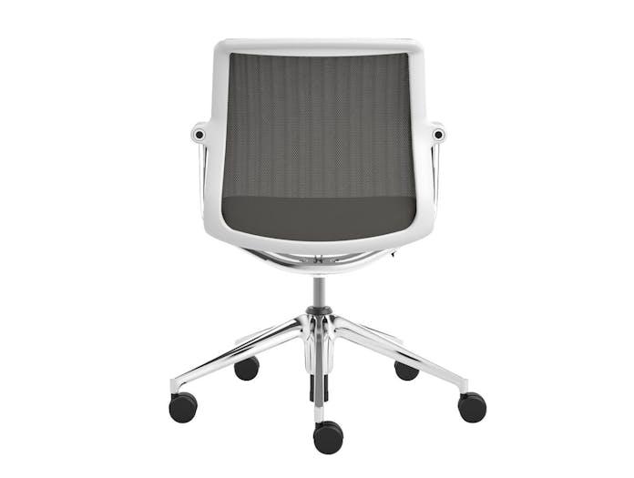 Vitra Unix Chair 1 Mauve Grey Silk Mesh Antonio Citterio