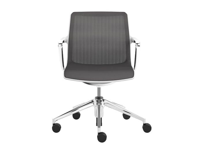 Vitra Unix Chair 2 Mauve Grey Silk Mesh Antonio Citterio