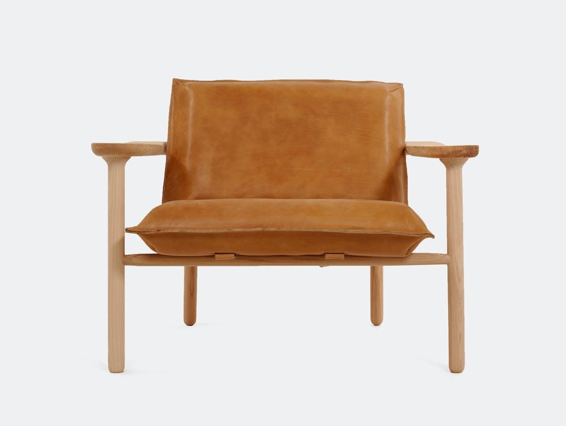 Zanat Igman Lounge Chair Maple White Oil Harri Koskinen
