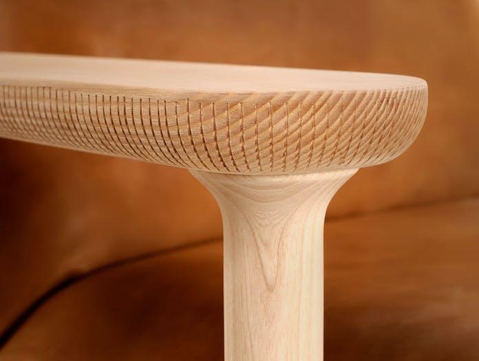 Zanat Igman Lounge Chair arm detail Harri Koskinen