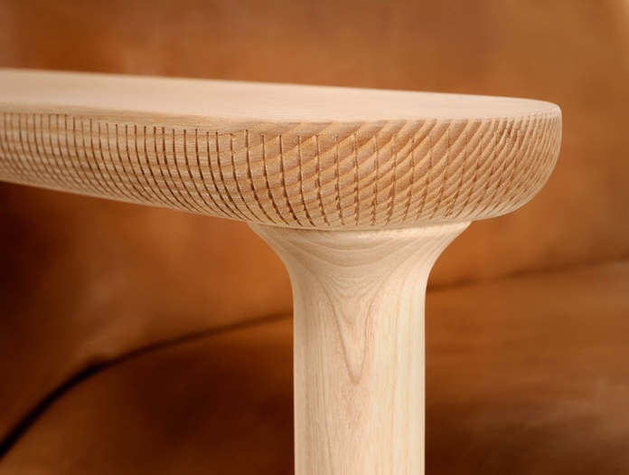 Zanat Igman Lounge Chair arm detail Harri Koskinen