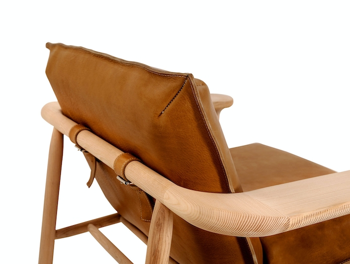 Zanat Igman Lounge Chair back detail Harri Koskinen