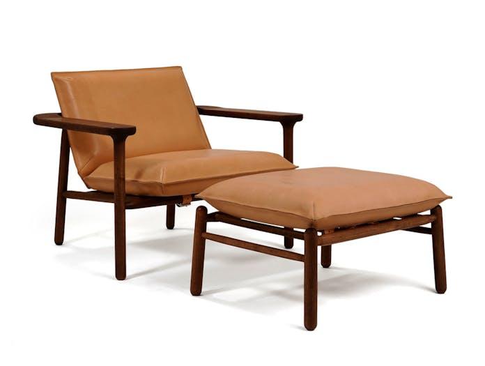 Zanat Igman Lounge Chair with Ottoman Harri Koskinen