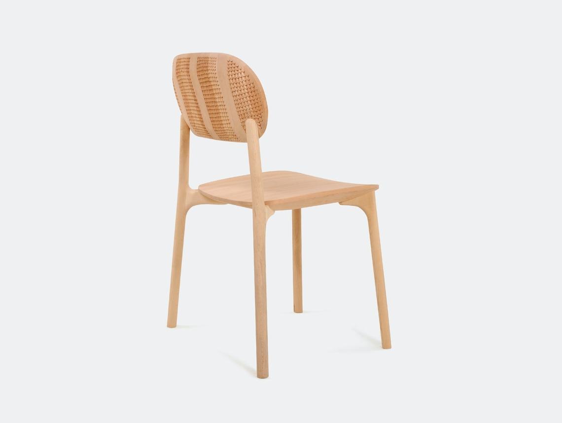 Zanat Unna Chair Maple White Oil Reshma Rows IV Monica Forster