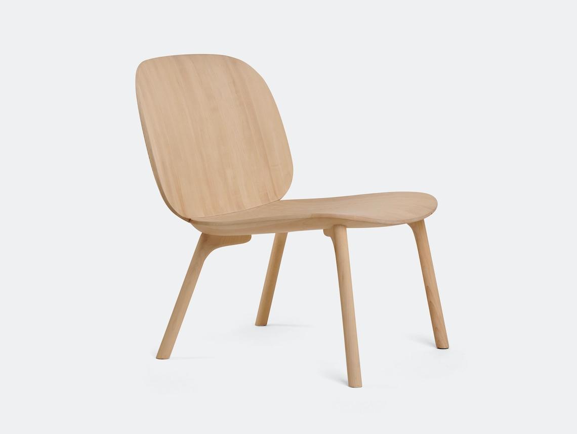 Zanat Unna Lounge Chair Maple White Oil Monica Forster