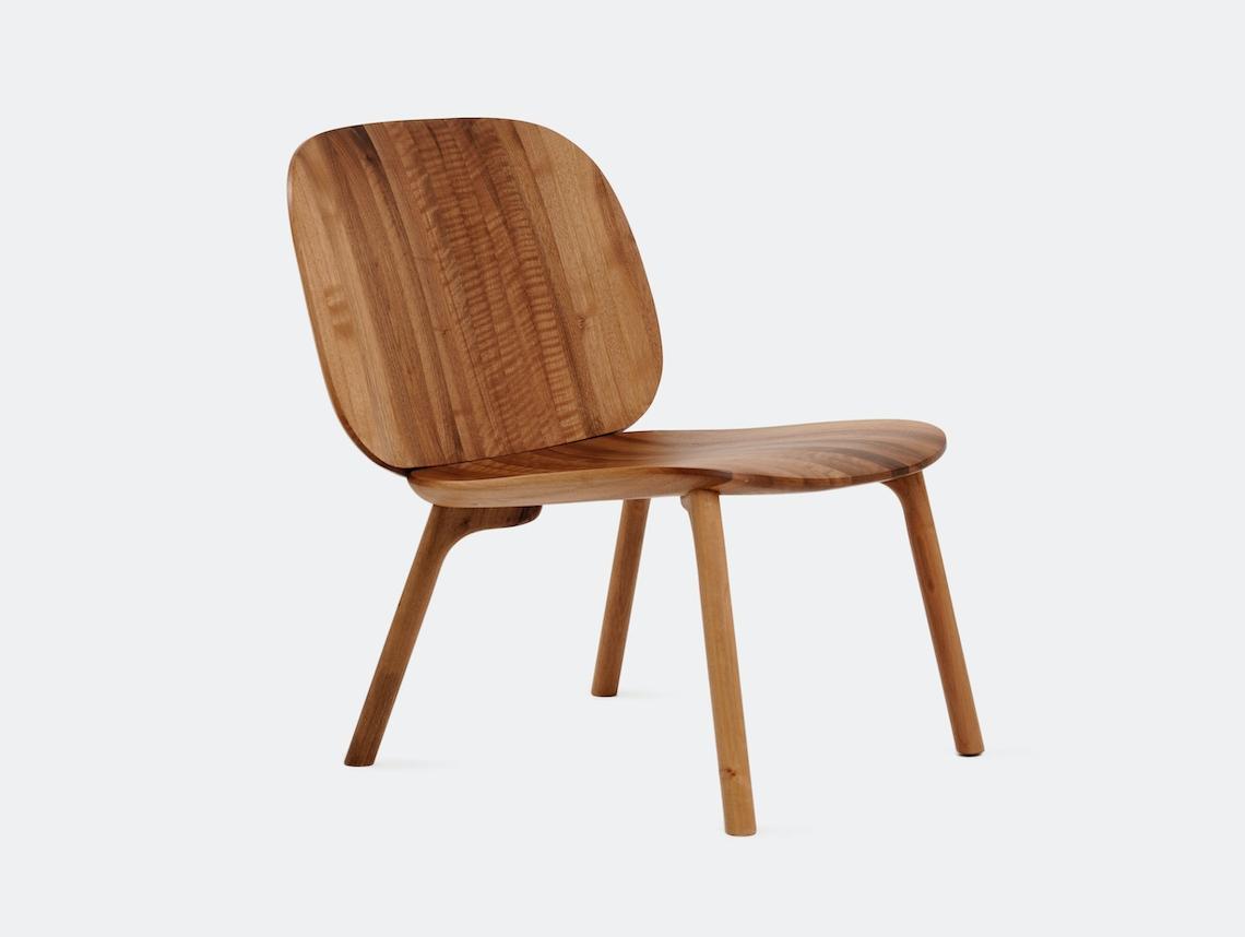 Zanat Unna Lounge Chair Walnut Oil Monica Forster