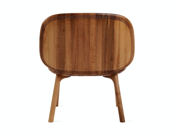 Zanat Unna Lounge Chair Walnut back Monica Forster