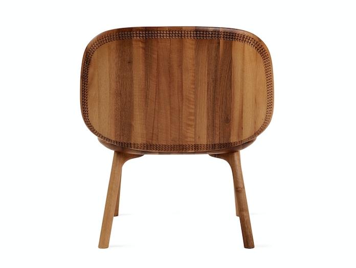 Zanat Unna Lounge Chair Walnut back Monica Forster