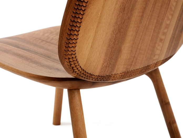 Zanat Unna Lounge Chair Walnut back detail Monica Forster