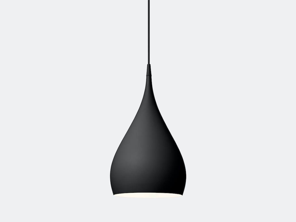 And Tradition Spinning Pendant Light Bh1 Black Benjamin Hubert