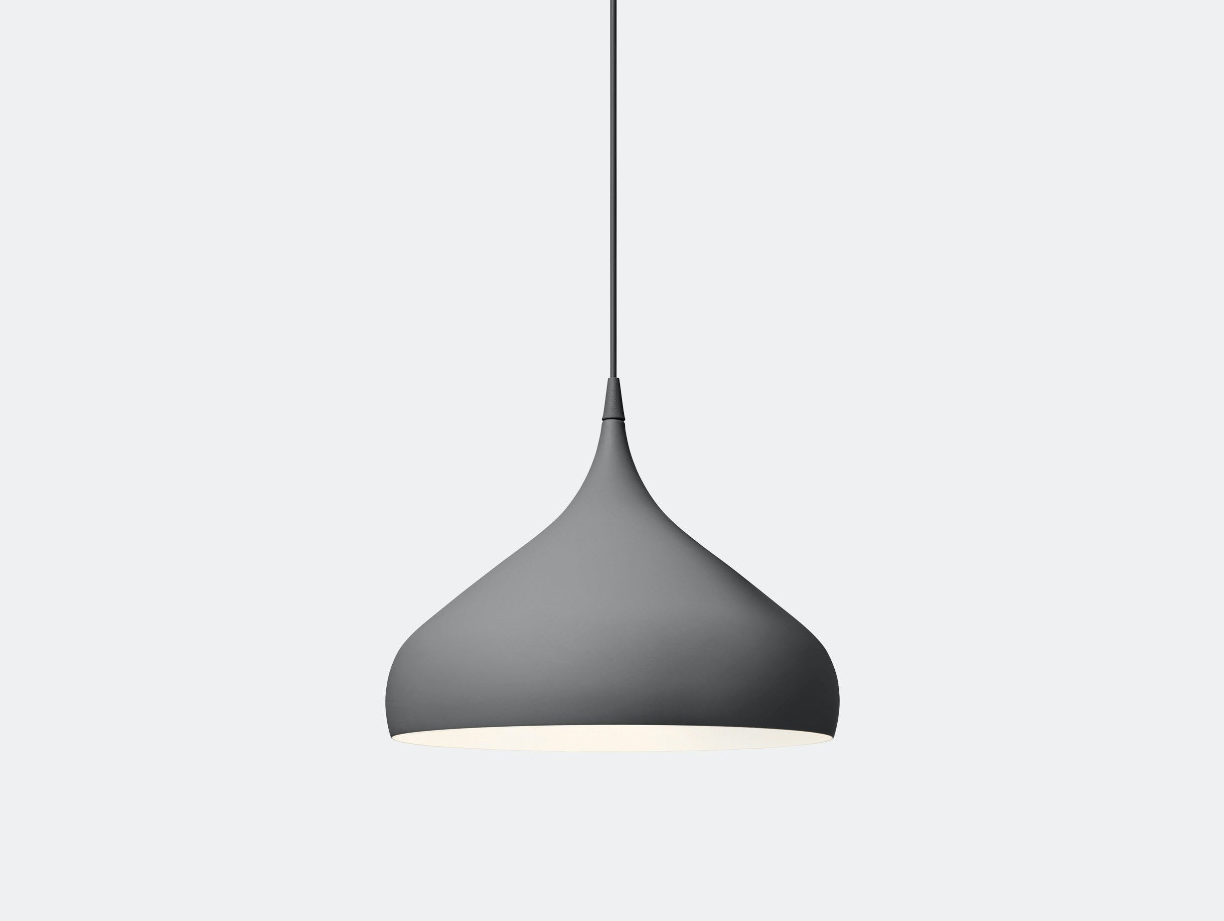 And Tradition Spinning Pendant Light Bh2 Grey Benjamin Hubert