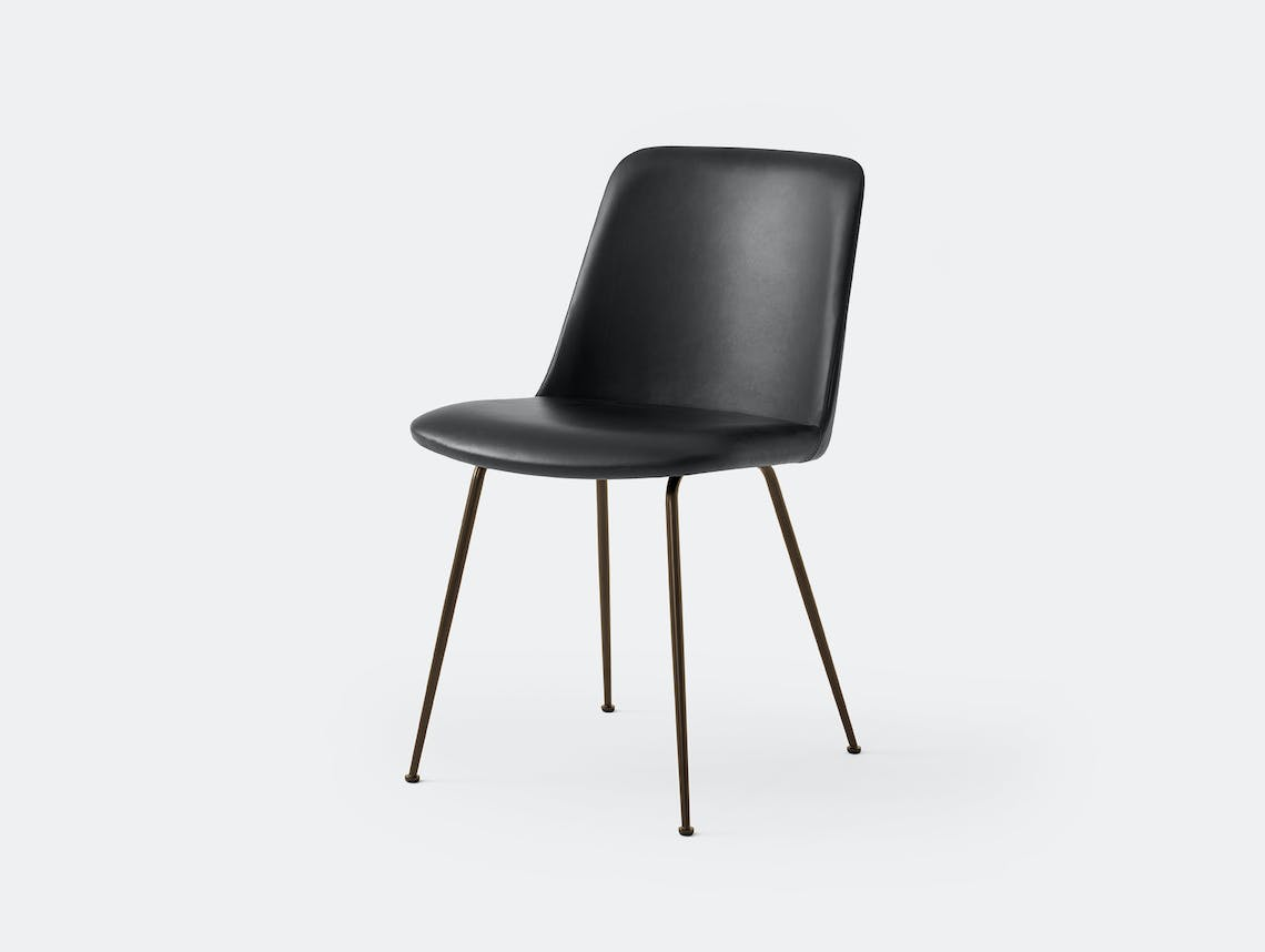 Andtradition rely chair four leg blk black leath