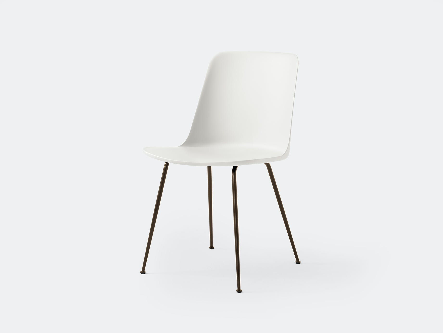 Andtradition rely chair four leg brz white
