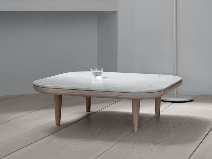And Tradition Fly Coffee Table Oak Carrara Marble Space Copenhagen