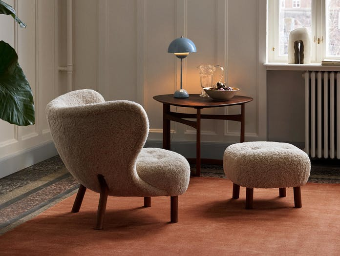 Andtradition little petra lounge chair pouf 2