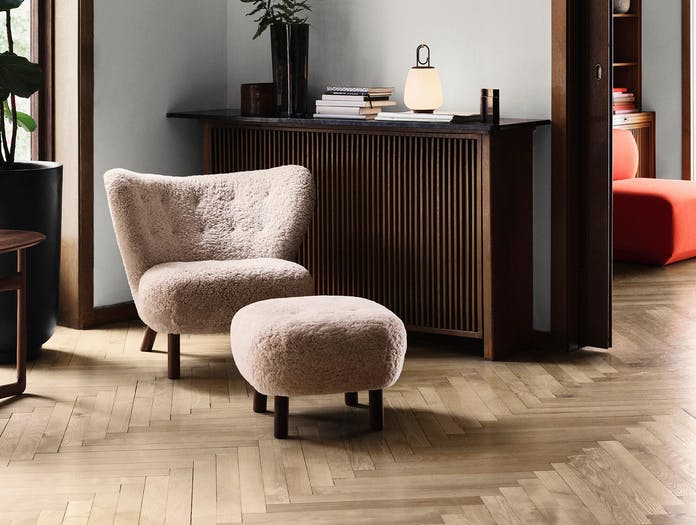 Andtradition little petra lounge chair pouf 3