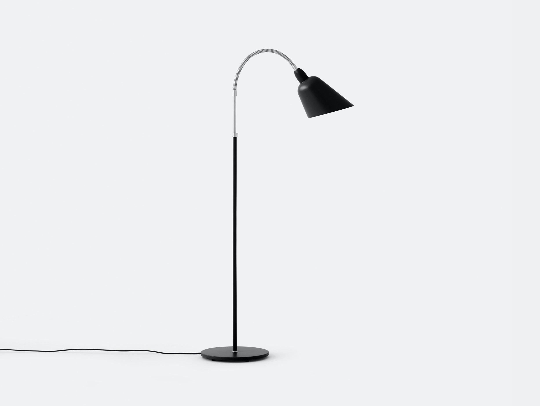 And Tradition Bellevue Floor Lamp Black Steel Arne Jacobsen