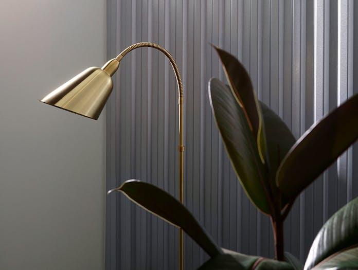 And Tradition Bellevue Floor Lamp brass detail Arne Jacobsen