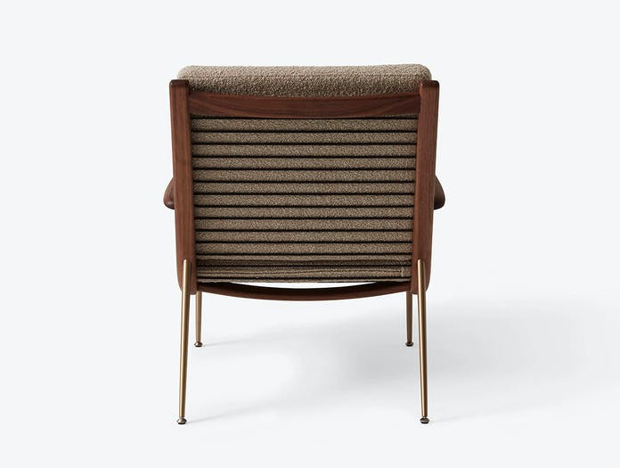And Tradition Boomerang Lounge Chair back with arms Walnut Karakorum 003 Hvidt Molgaard