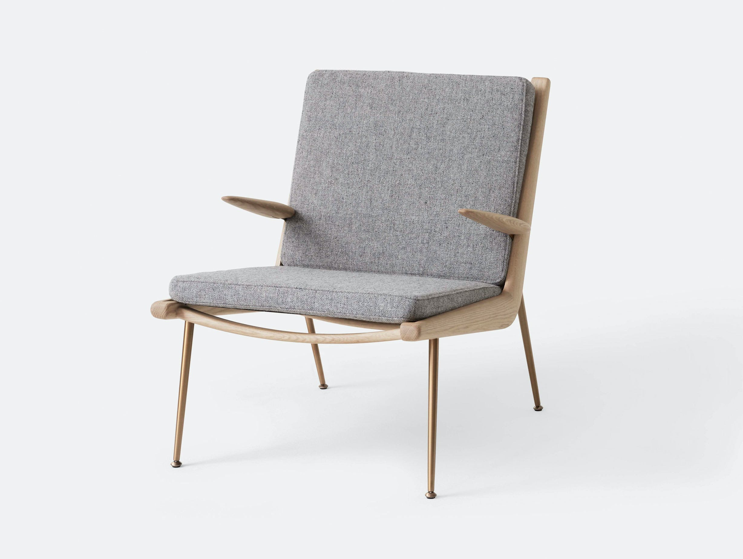 And Tradition Boomerang Lounge Chair with arms Oak Hallingdal 130 Hvidt Molgaard