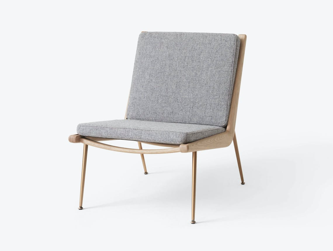And Tradition Boomerang Lounge Chair without arms Oak Hallingdal 130 Hvidt Molgaard
